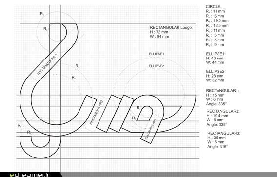 رویاگر • وبلاگ • طراحی چاپ • نشانه ها، بخش دوم: شیوه استاندارد ...خط کرسی و خطوط پایه طرح