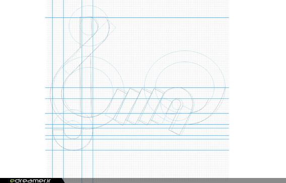 رویاگر • وبلاگ • طراحی چاپ • نشانه ها، بخش دوم: شیوه استاندارد ...طرح اولیه روی صفحه مشبک